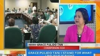 NTG: Grace Pulido Tan: I stand for what I believe is right