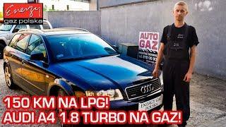 NIEŚMIERTELNE 1.8 TURBO NA GAZ! Audi A4 1.8T 150KM 2002r na auto gaz LPG