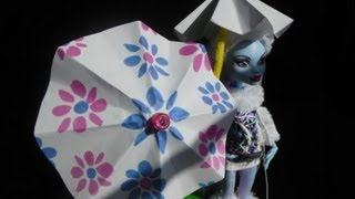 How To Make A Doll Umbrella / Beach Umbrella