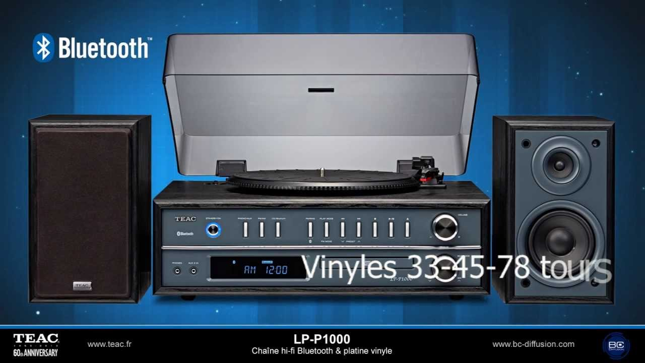 teac lp p1000 chaine hi fi bluetooth platine vinyle youtube. Black Bedroom Furniture Sets. Home Design Ideas