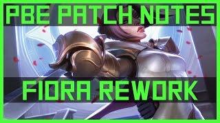 Fiora Rework - PBE Patch Notes | League of Legends