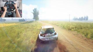 Volkswagen Polo GTI R5 - Dirt Rally 2.0   Logitech g29 gameplay