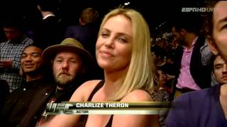 Nobody cares when Charlize Theron is on the big screen at UFC 146.