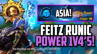 FEITZ 1V4 ASIA SERVER CLUTCHES ON RUNIC POWER!   PUBG Mobile