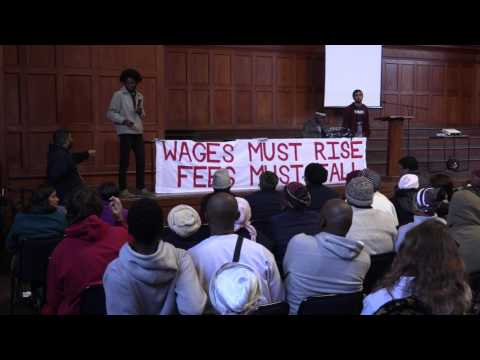 Fee-free higher education mass meeting at UCT (part 3)