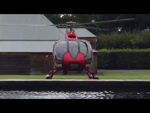 Awesome Sound of Eurocopter EC130 B4 T2 Helicopter Take-Off