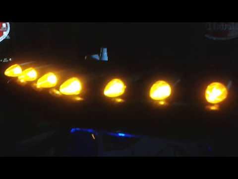 Short Update For My Peterbilt 379   Dash Ilumination And Cab Roof Lights At The Dark      (BADASS)
