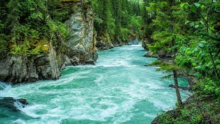 calming blue mountain river. relaxing nature sounds. (30 minutes). white noise for sleeping.
