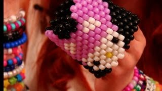 Repeat youtube video How to Make a Kandi Cuff - Deadmau5 Hello Kitty!