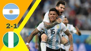 جنون حفيظ دراجي/ الأرجنتين ~ نيجيريا 2-1 كأس العالم 2018 جودة عالية 1080iمباراة مجنونة
