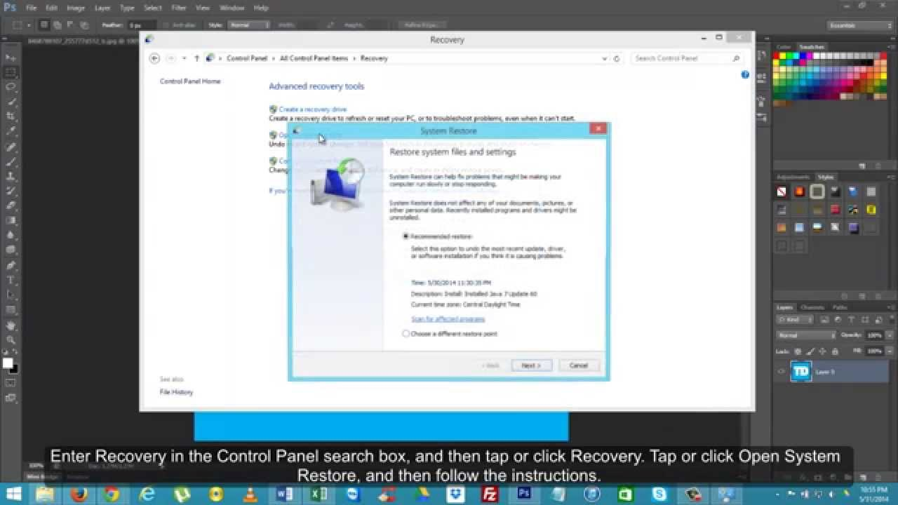 How to Restore Windows 8 or 8.1 to Previous Restore Point - YouTube