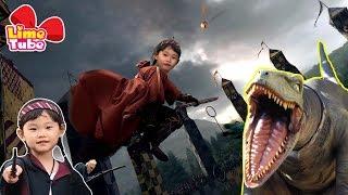 해리포터 마법사가 된 라임! 유니버셜스튜디오! 트랜스포머 쥬라기공원 공룡 놀이기구 체험  LimeTube & Toy 라임튜브