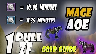 WoW Classic Gold Farm Mage AoE ZF in 1 Pull Part 2