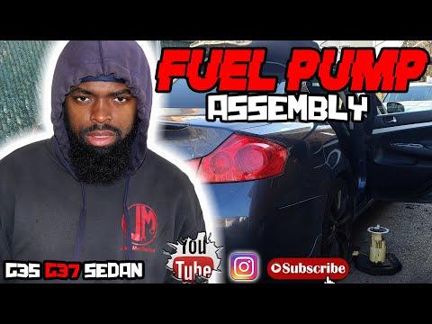 How to replace fuel pump assembly infiniti g37 g35 sedan diy