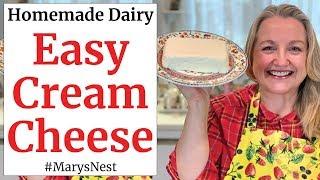 How to Make Cream Cheese - One Ingredient Homemade Cream Cheese Recipe