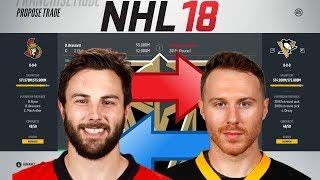 NHL 18 - BRASSARD TO PITTSBURGH TRADE SIMULATION