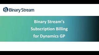 Subscription Billing for Microsoft Dynamics GP