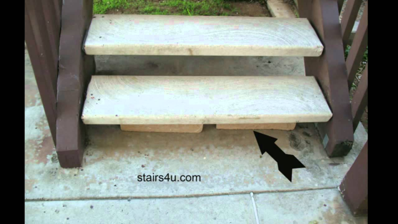 How To Prop Up The Bottom Stair Tread   Temporary Building Repairs