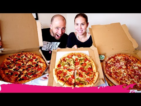 PIZZA HUT Vs DOMINO'S Vs PAPA JOHN'S - Pizza Delivery Taste Test | Miami, FL