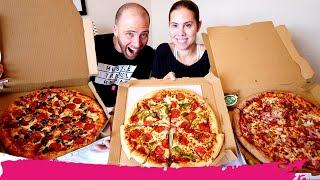 PIZZA HUT vs DOMINO'S vs PAPA JOHN'S - Pizza Delivery Taste Test | Miami, FL