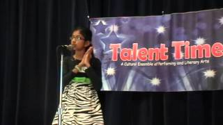 Talent Time 2012 - English Poetry recitation - Teresa Thomas
