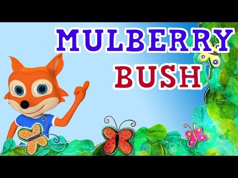 Here We Go Round The Mulberry Bush - 3D Animation Nursery Rhymes for Children