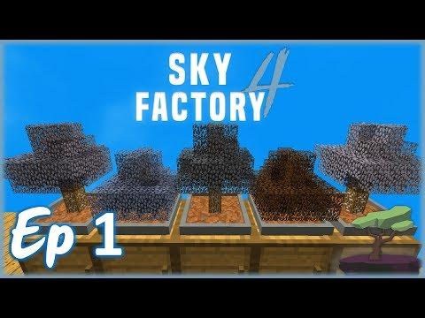 JUSTE UNE HISTOIRE DE GLANDS ! | Minecraft Moddé - Sky Factory 4 | Ep# 1