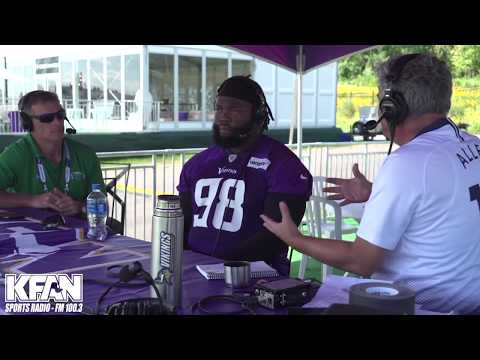 Allen's Page - VIDEO: Vikings DT Linval Joseph Chats with PA at Training Camp | KFAN