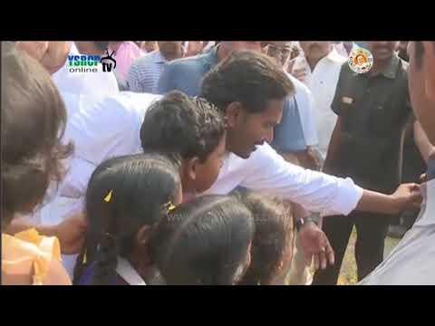 YS Jagan 93rd Day Prajasankalpa Yatra visuals at Ponnaluru Mandal in Kondepi constituency