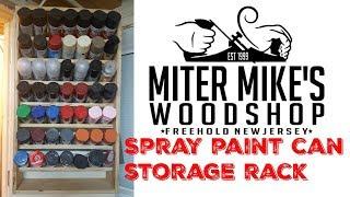 Spray Paint Can Storage Rack
