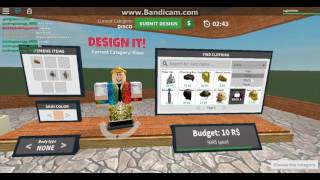 Roblox DESIGN IT RUNDE 1