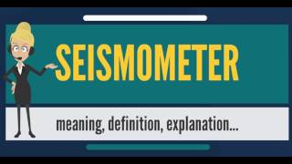 What is SEISMOMETER? What does SEISMOMETER mean? SEISMOMETER meaning, definition & explanation