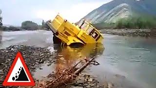 Бездорожье. Трактор К-700 переезд через реку. К700 Трактор - Супер!
