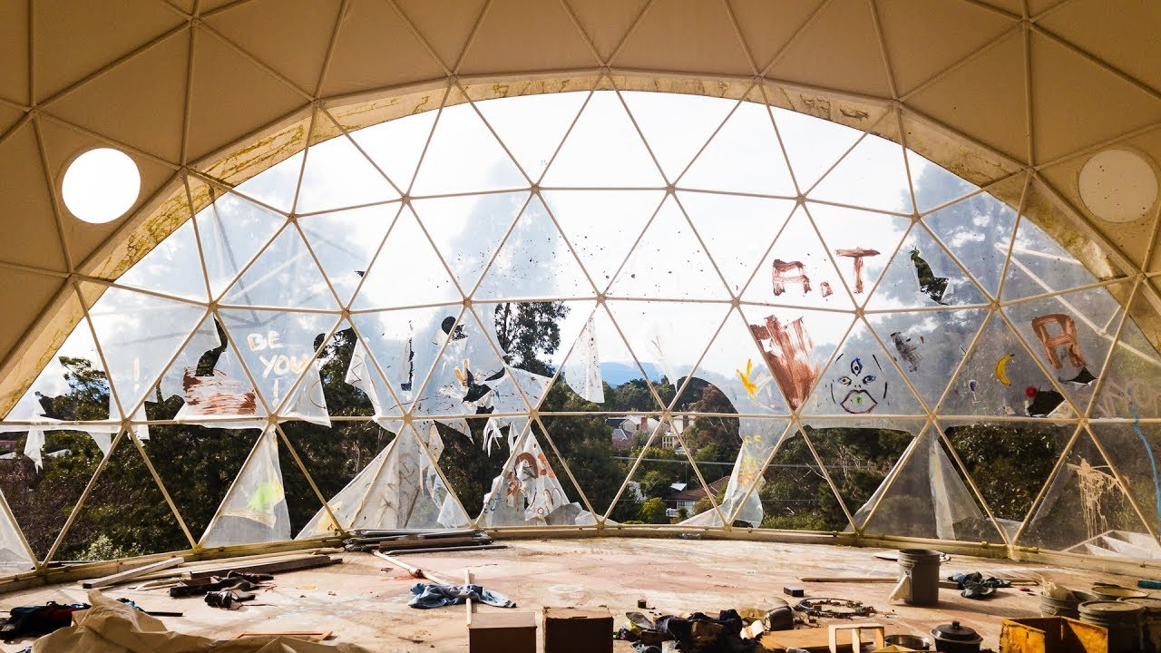 Abandoned: Half Built Geodesic Dome Home - YouTube