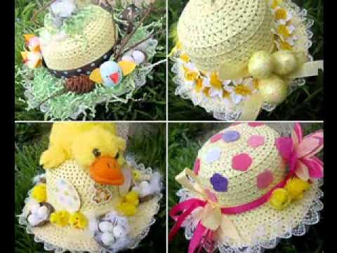 Easter bonnet craft decorating ideas - YouTube