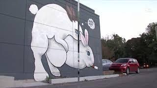 Restaurant mural of rabbits draws mixed reviews