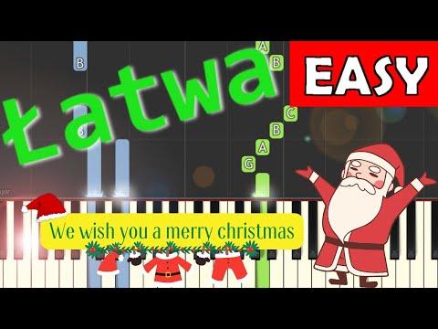🎹 We wish you a merry Christmas - Piano Tutorial (łatwa wersja) (EASY) 🎹