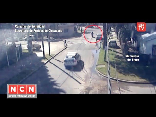 CINCO TV - Conducían una moto robada, intentaron escapar y fueron detenidos