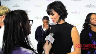 Catherine Bell  at the #HallmarkChannel #HallmarkMovie Winter #‎TCA15 Tour
