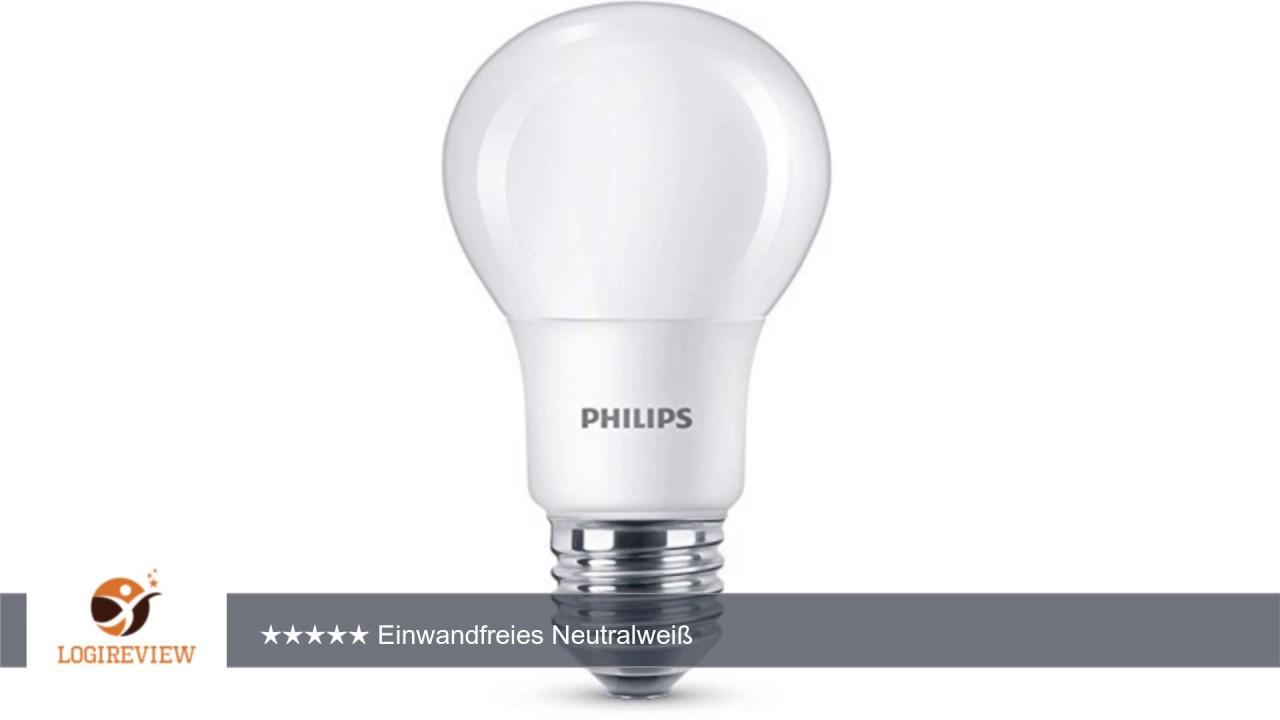 Philips Led Lampe Ersetzt 60 W E27 Neutralweiss 4000k 806 Lumen
