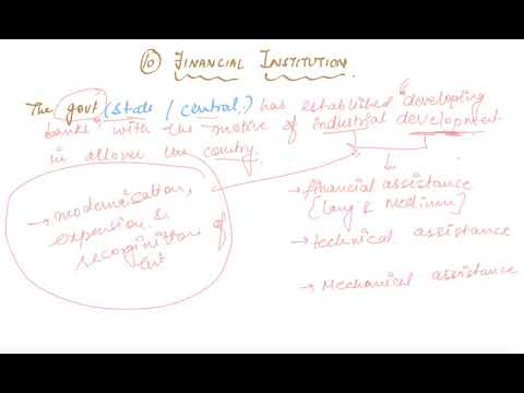 Financial Institution | Class 11 Business Sources of Business Finance