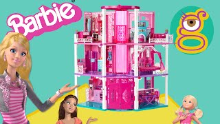 Casa tres pisos Barbie Dreamhouse mansion Casa muñecas dollhouse juguetes Barbie toys