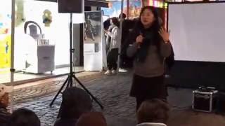 진주촛불집회- 진주 여학생 시국발언