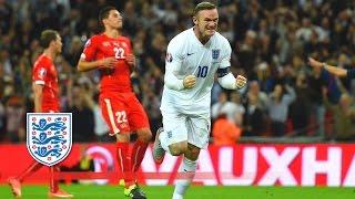 Rooney breaks the England goalscoring record - England 2-0 Switzerland   Goals & Highlights