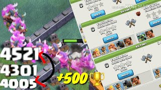 EARLY SEASON PUSH ON BUILDER BASE ¦ +500 IN 2 HOURS! ¦ CLASH OF CLANS