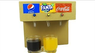 How to Make Coca Cola Soda Fountain Machine with 3 Different Drinks at Home thumbnail