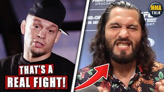 Nate Diaz Reacts to Jorge Masvidal STEPPING IN to fight Usman, Colby SLAMS Masvidal, Costa-Adesanya