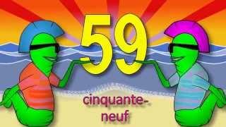 Les chiffres et les nombres de 50 à 70 - alain le lait (French numbers)
