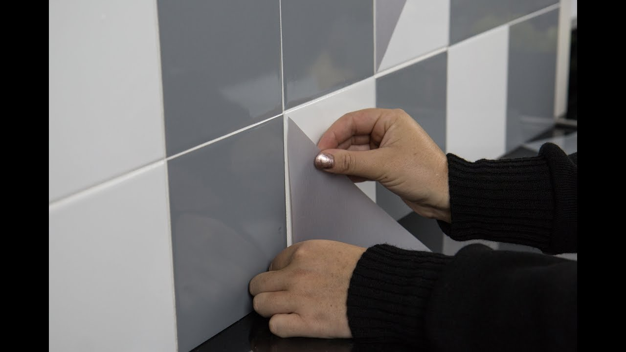 how to apply flat tile stickers