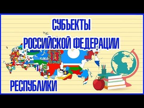 🇷🇺 СУБЪЕКТЫ РОССИЙСКОЙ ФЕДЕРАЦИИ (РЕСПУБЛИКИ) 🇷🇺